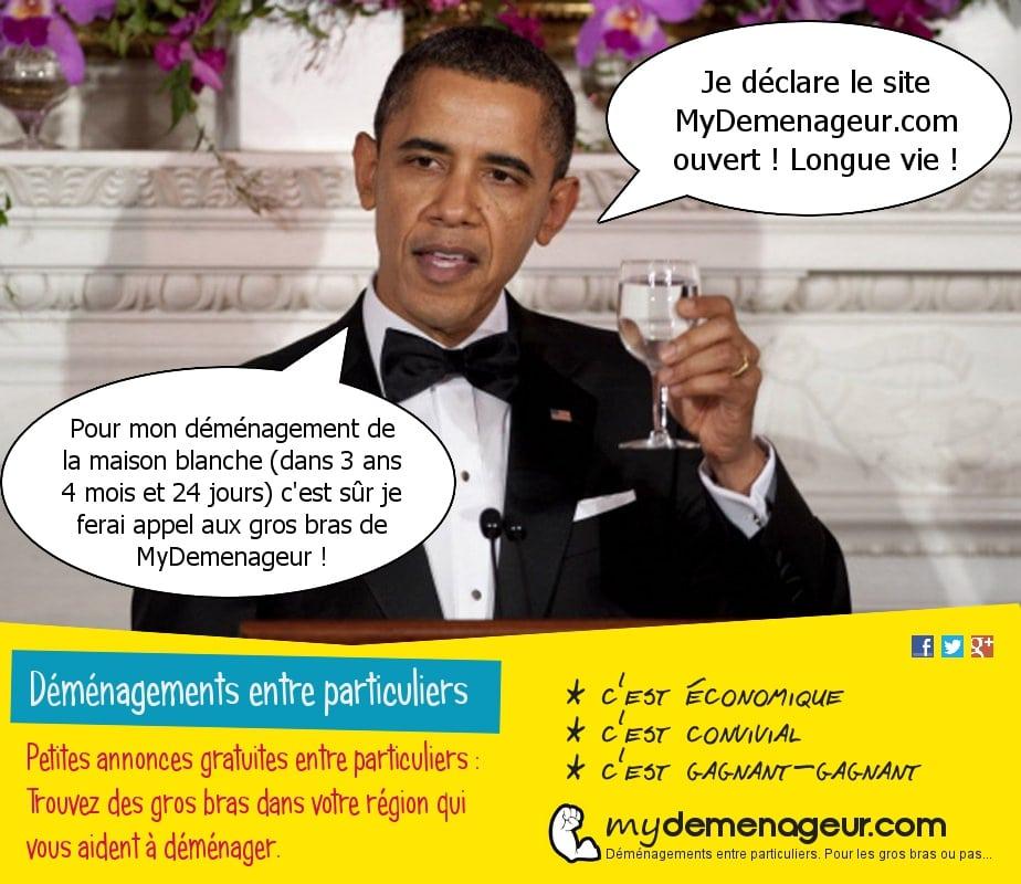 Obama lance la plateforme communautaire MyDemenageur