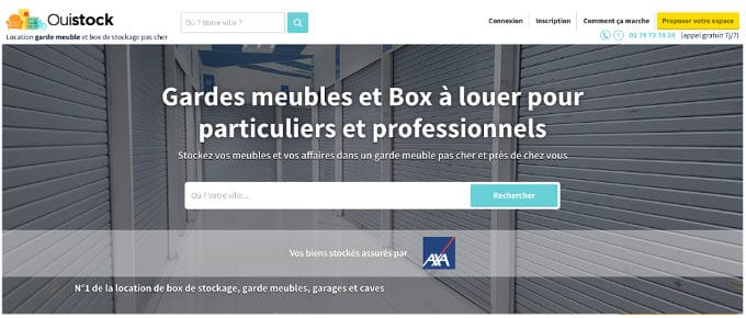 Ouistock - stockage entre particuliers