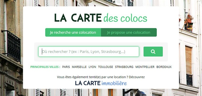 la carte des colocs paris La Carte de Colocs, site de colocation 100% gratuit   Blog