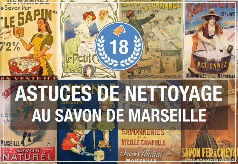 Savon de Marseille - trucs de nettoyage
