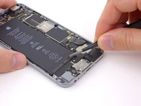 onglet adhesif batterie iphone 6