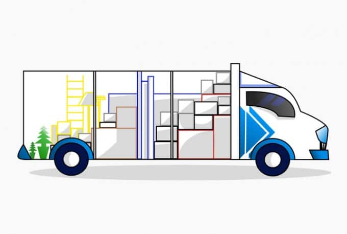 plan chargement camion