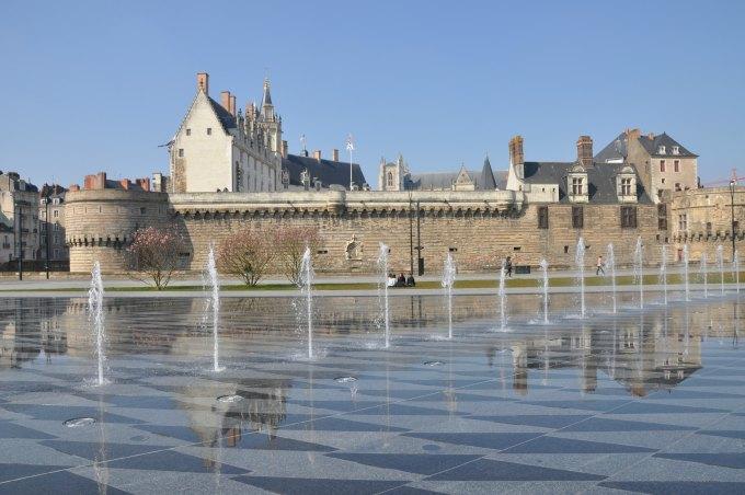 photo du miroir d'eau à Nantes