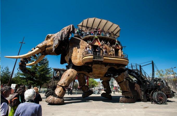photo de l'elephant des machines de l'ile a Nantes