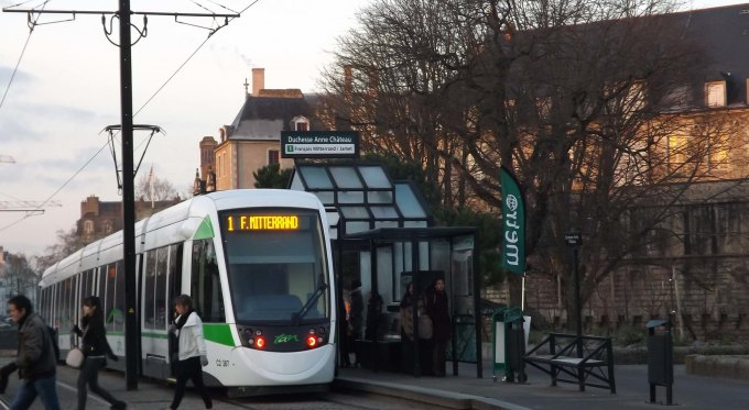photo du tramway a Nantes